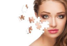 Vrouw met gezonde huid royalty-vrije stock foto