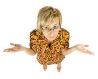 Vrouw met glazen Royalty-vrije Stock Afbeelding