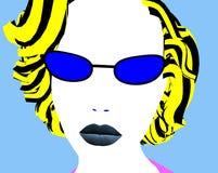 Vrouw met glazen vector illustratie