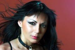 Vrouw met groene ogen Stock Foto's