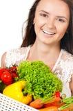 Vrouw met groenten Royalty-vrije Stock Fotografie