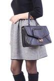 Vrouw met handtas stock afbeelding