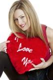 Vrouw met hart Royalty-vrije Stock Afbeeldingen