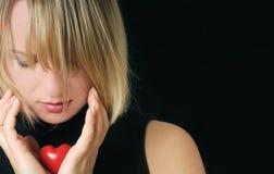 Vrouw met hart Stock Fotografie