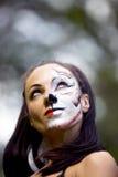 Vrouw met het art. van het tijgeringezicht Stock Afbeelding