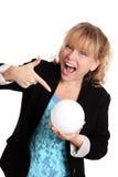 Vrouw met het fortuin van de glasbal het vertellen Royalty-vrije Stock Fotografie