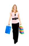 Vrouw met het winkelen zakken Stock Fotografie
