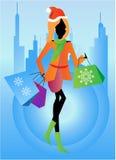 Vrouw met het winkelen zakken Royalty-vrije Stock Fotografie