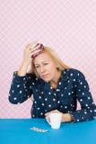 Vrouw met hoofdpijn Royalty-vrije Stock Fotografie