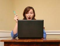 Vrouw met Idee Stock Foto