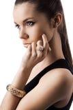 Vrouw met juwelen Royalty-vrije Stock Afbeelding