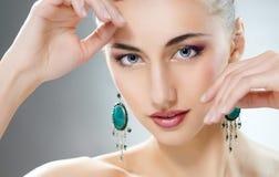 Vrouw met juwelen Royalty-vrije Stock Foto