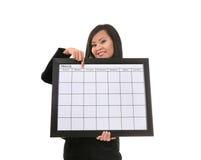 Vrouw met Kalender Royalty-vrije Stock Afbeelding