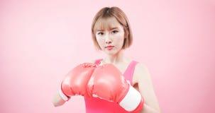 Vrouw met kanker van de preventieborst royalty-vrije stock foto's