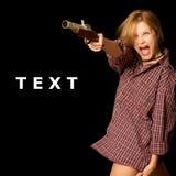 Vrouw met kanon Stock Fotografie