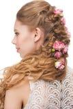 Vrouw met kapsel Stock Foto