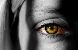 Vrouw met kleurrijk oog Royalty-vrije Stock Foto's
