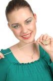 Vrouw met koord Royalty-vrije Stock Foto