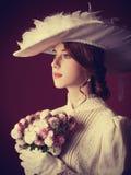 Vrouw met kop thee Royalty-vrije Stock Foto's