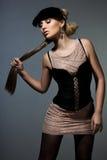 Vrouw met kunstgezicht Royalty-vrije Stock Afbeelding