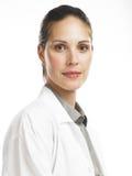 Vrouw met laboratoriumlaag 2 Royalty-vrije Stock Foto's