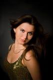 Vrouw met Lang Bruin Haar Stock Afbeeldingen