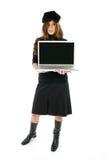 Vrouw met Laptop Stock Foto