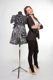 Vrouw met ledenpop Stock Foto
