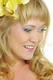 Vrouw met Lelie Royalty-vrije Stock Fotografie