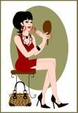Vrouw met lippenstift Royalty-vrije Stock Foto's