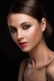 Vrouw met make-up royalty-vrije stock fotografie