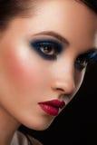 Vrouw met make-up Stock Foto's
