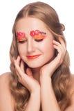 Vrouw met make-up Royalty-vrije Stock Afbeeldingen