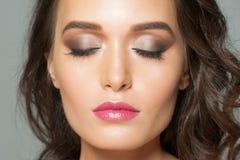 Vrouw met make-up Royalty-vrije Stock Foto