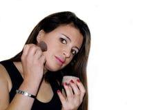 Vrouw met make-up Stock Afbeeldingen