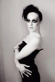 Vrouw met manierkapsel en samenstelling Stock Foto