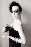 Vrouw met manierkapsel en samenstelling Royalty-vrije Stock Afbeeldingen