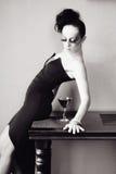 Vrouw met manierkapsel en samenstelling Stock Foto's