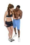 Vrouw met Mannelijke Persoonlijke Trainer 1 Stock Fotografie