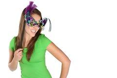 Vrouw met Masker Stock Afbeelding