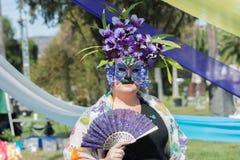 Vrouw met masker Royalty-vrije Stock Foto's