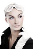 Vrouw met modieuze zonnebril royalty-vrije stock foto