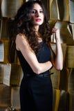 Vrouw met mooi haar Royalty-vrije Stock Foto's