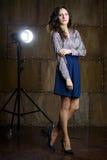 Vrouw met mooi haar Royalty-vrije Stock Foto