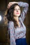 Vrouw met mooi haar Stock Foto's