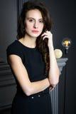 Vrouw met mooi haar Royalty-vrije Stock Fotografie