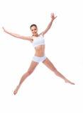 Vrouw met mooi lichaam. Stock Foto's