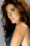 Vrouw met mooie blauwe ogen Stock Foto's