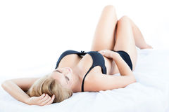 Vrouw met mooie borsten Stock Foto's