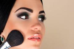Vrouw met mooie make-up royalty-vrije stock fotografie